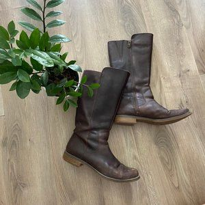 TIMBERLAND Brown-Black Leather Mid-Calf Boots